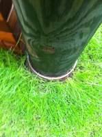 Slackline Fixpunkt Grasnarbenansicht