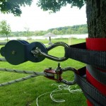 Prure mit Doppelrolle und Seilklemme