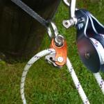 Die Seilklemme im Rollenflaschenzug als Rücklauf sperre